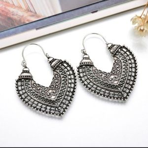 Jewelry - Large Boho Gypsy Style Metal Earrings